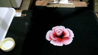 Como pintar una rosa en doble carga Sonia R.A.