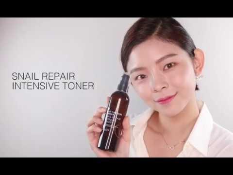 【韓國MIZON】蝸牛精華修護保濕化妝水100ml | 使用示範