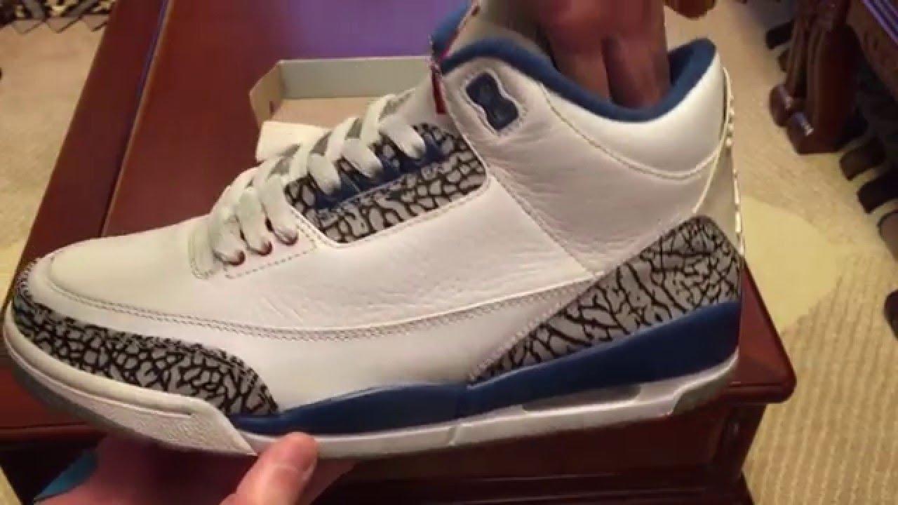 12d9bb33f70fb 2009 Air Jordan Retro 3 `True Blue` Sneaker Unboxing by WuWuMan