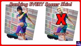 RANKING Every Soccer Skin! *ALL Skins* | Fortnite Battle Royale