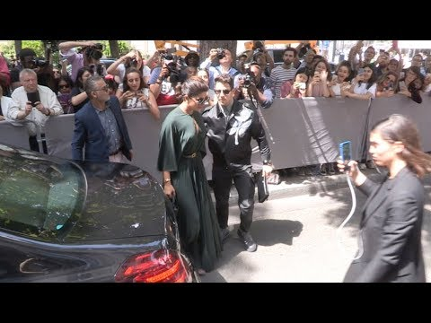 Nick Jonas and Priyanka Chopra arrive at Dior HC Fashion Show in Paris