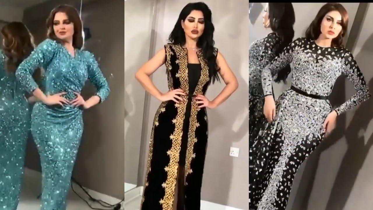 2054b6423e840 اجمل  فساتين السهرة و السواريه مجموعة جديدة لموسم- 2019✓ ✓ 💖 Amazing Night   Dresses