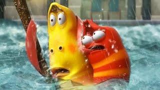ЛАРВА | плавание в ЦУНАМИ | Мультфильмы для детей | Мультфильмы для детей | WildBrain