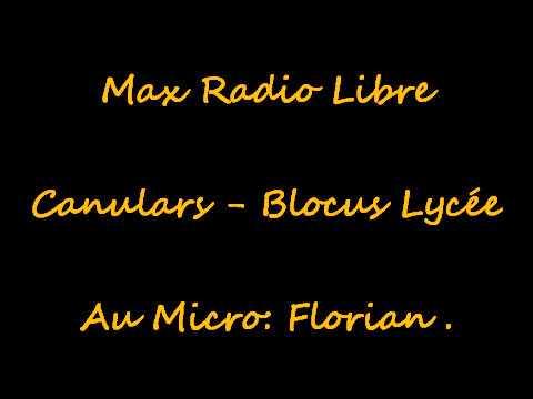 # MAX RADIO LIBRE - Canulars - Blocus
