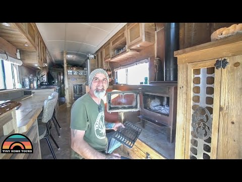 The Most Unique School Bus Conversion - Tiny Home / Metal & Art Fab Studio