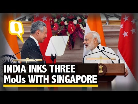 The Quint: Singapore Condemns Uri Attack, Inks Three Agreements With India