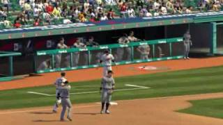MLB 2K9 PC Gameplay DET@CLE (Tigers vs Indians) 1st Inning Bottom
