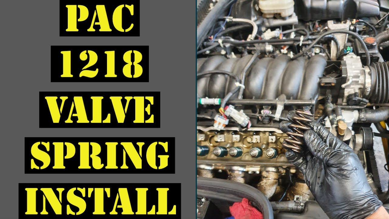 Upgrading to PAC Performance 1218 Valve springs in the C5 Z06 (How to install LS Valve springs)