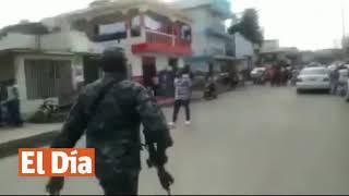 Coronel Palave amenaza a punta de fusil varios conductores en ensanche Libertad en Santiago