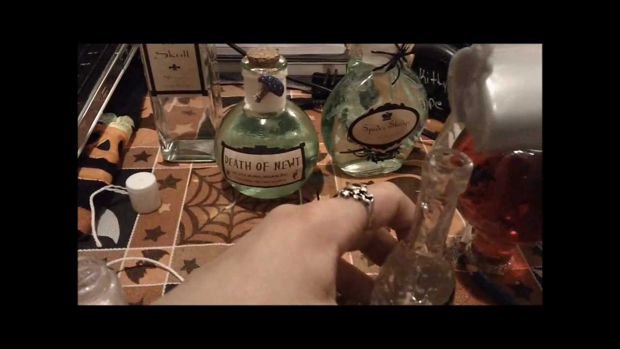 halloween project 3how to make halloween potion bottles youtube