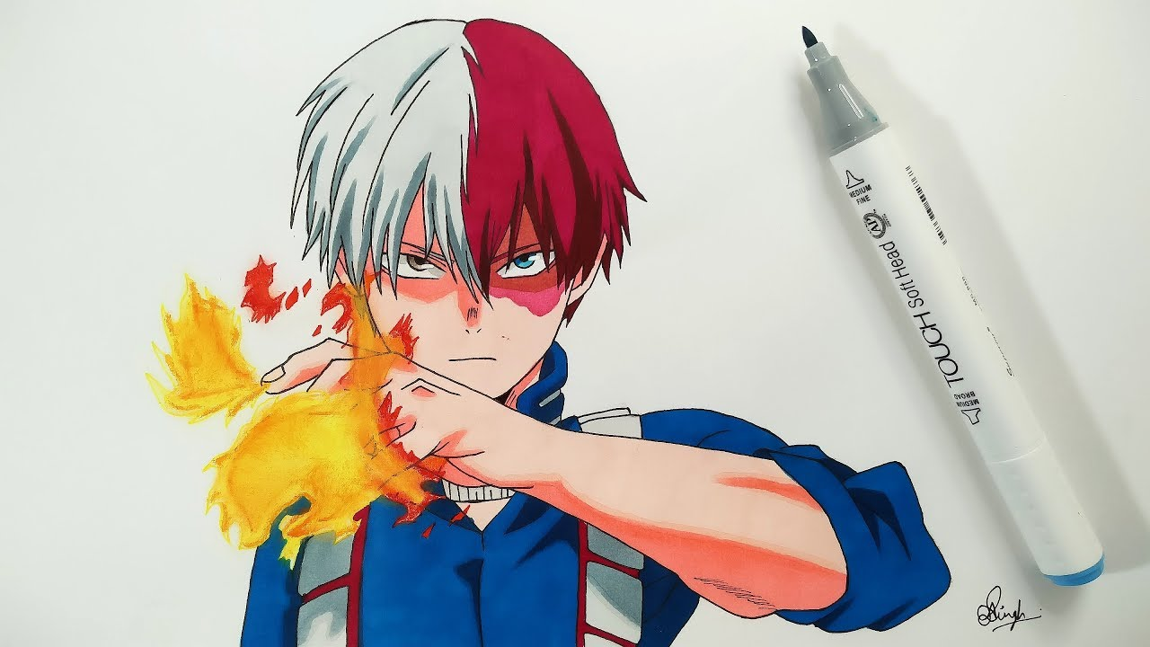 How To Draw Shoto Todoroki Step By Step Tutorial