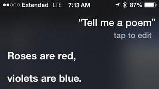 Siri, Tell Me A Poem!