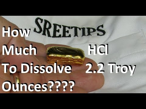 Gold Refining 2 2 Troy Ounces Dissolved in Just 250ml