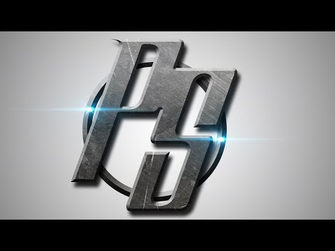 Photoshop CS6 Tutorial - Logo Design (Metal)