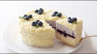 ブルーベリーのドゥーブルフロマージュの作り方 Blueberry Double Fromage|HidaMari Cooking