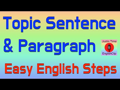 How to Write Basic Topic Sentences & Paragraphs  ESL