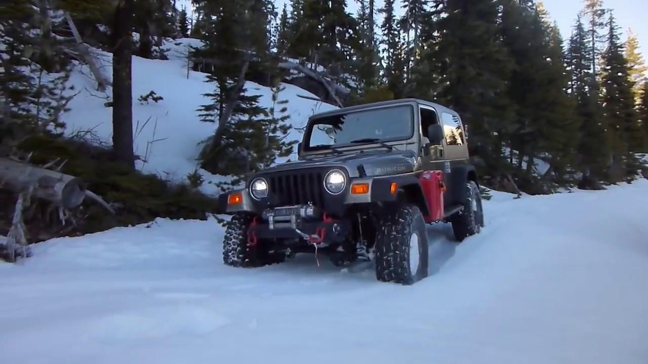 Jeep In Snow >> Jeep Wrangler Snow Wheeling Oregon Youtube