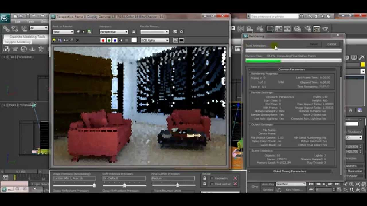 3ds max house modeling tutorial interior lighting using for Decoration 3ds max