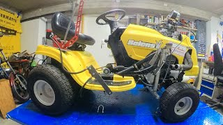 Lawn mower with motorcycle engine 001