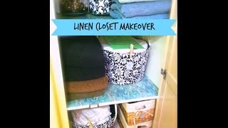 An Organized Home: Linen Closet Makeover {how To Organize}
