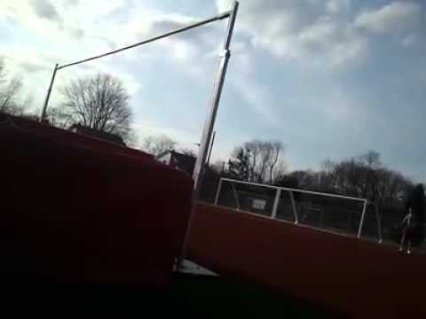High jumping on a windy day