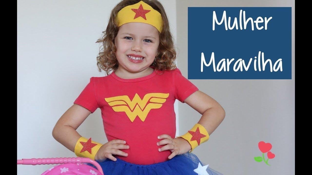 73b82fad1a Fantasia Mulher Maravilha | DIY - YouTube
