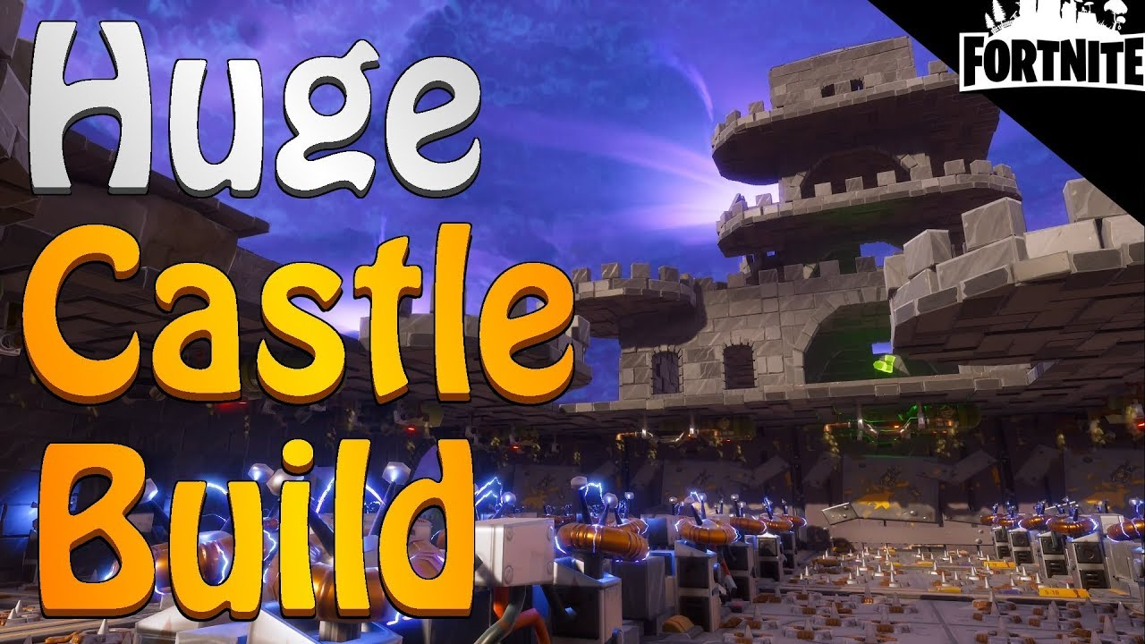FORTNITE - My Huge Castle Storm Shield Build In Stonewood ...