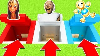 DO NOT CHOOSE THE WRONG SECRET BASE : (GRANNY, MOMO, KICK THE BUDDY(Ps3/Xbox360/PS4/XboxOne/PE/MCPE)