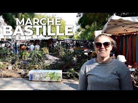 I went to a street market in PARIS 🇫🇷 Marché Bastille