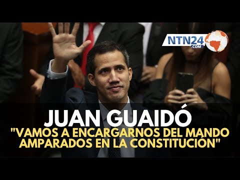 Guaidó: Vamos a encargarnos del mando amparados en la Constitución