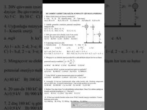 7 ci sinif fizika KSQ 2.(cavabları ilə)