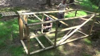 video sch lhilfe f r hochsitz stangen zum selber bauen. Black Bedroom Furniture Sets. Home Design Ideas