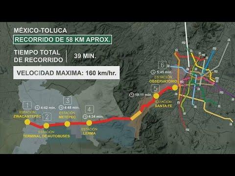 Presentan maqueta de tren interurbano México-Toluca