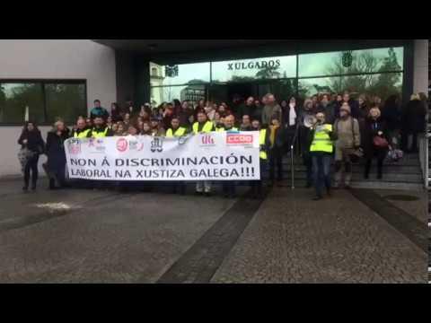 La huelga de funcionarios de Justicia paraliza juzgados en la capital