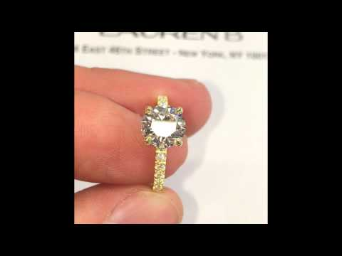 1.80 Carat Round Diamond Engagement Ring In Yellow Gold