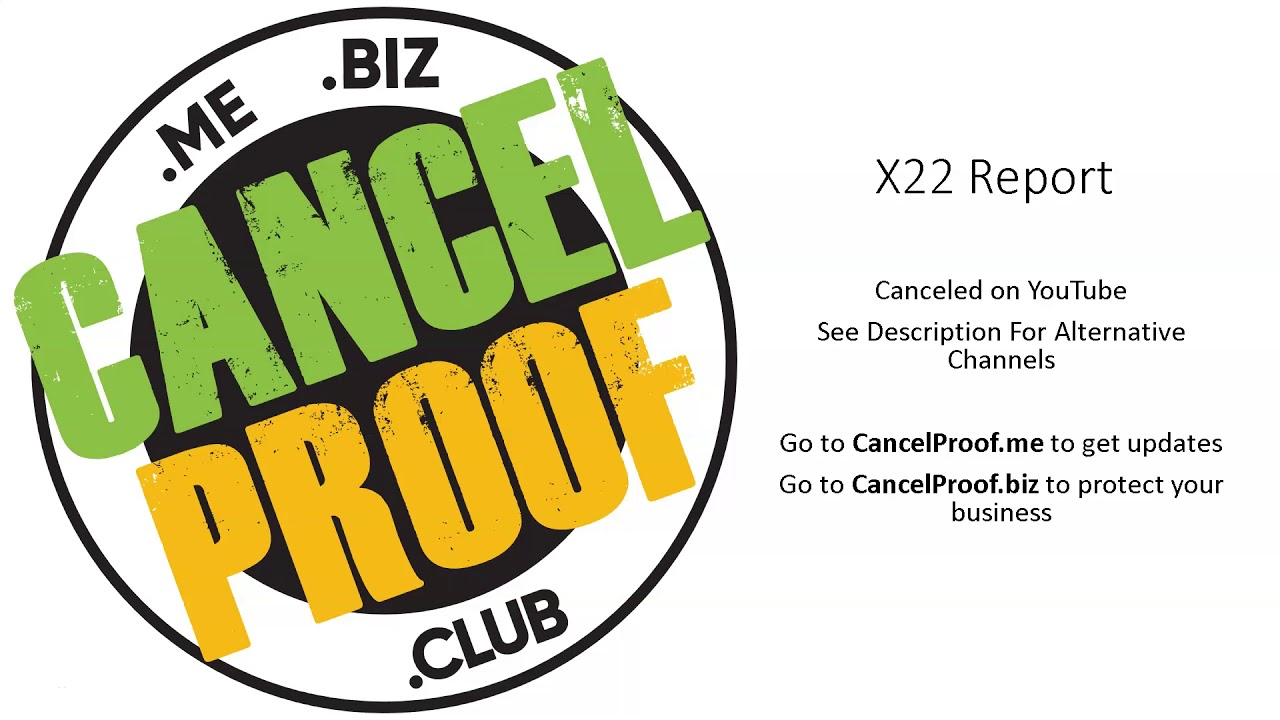 X22 Report Channel Canceled on YouTube
