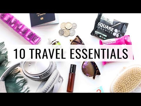 10 TRAVEL ESSENTIALS | what's in my carry on bag