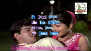 DHAL GAYAA DINN hindi karaoke for Male singers with lyrics