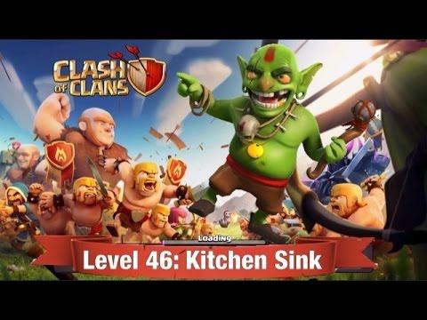 Clash of Clans Level 46: Kitchen Sink (walkthrough)