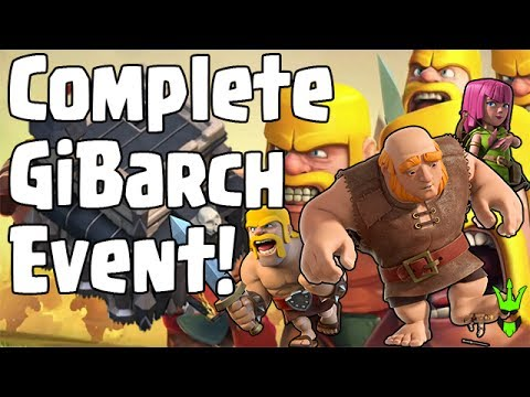 COMPLETING GIBARCH EVENT AT TH9 - GiBarch Faming - Clash of Clans - Free Gems for the event!