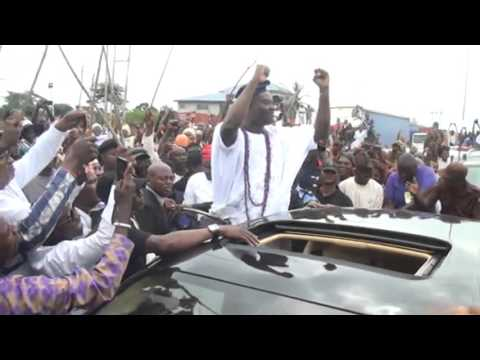 Ooni Elect's Triumphat Entry