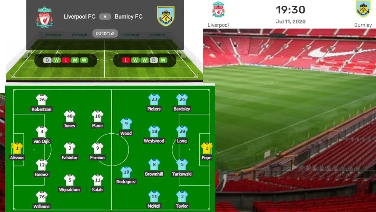 Burnley vs Liverpool Live, Premier League Liverpool vs Burnley Live Streaming - YouTube