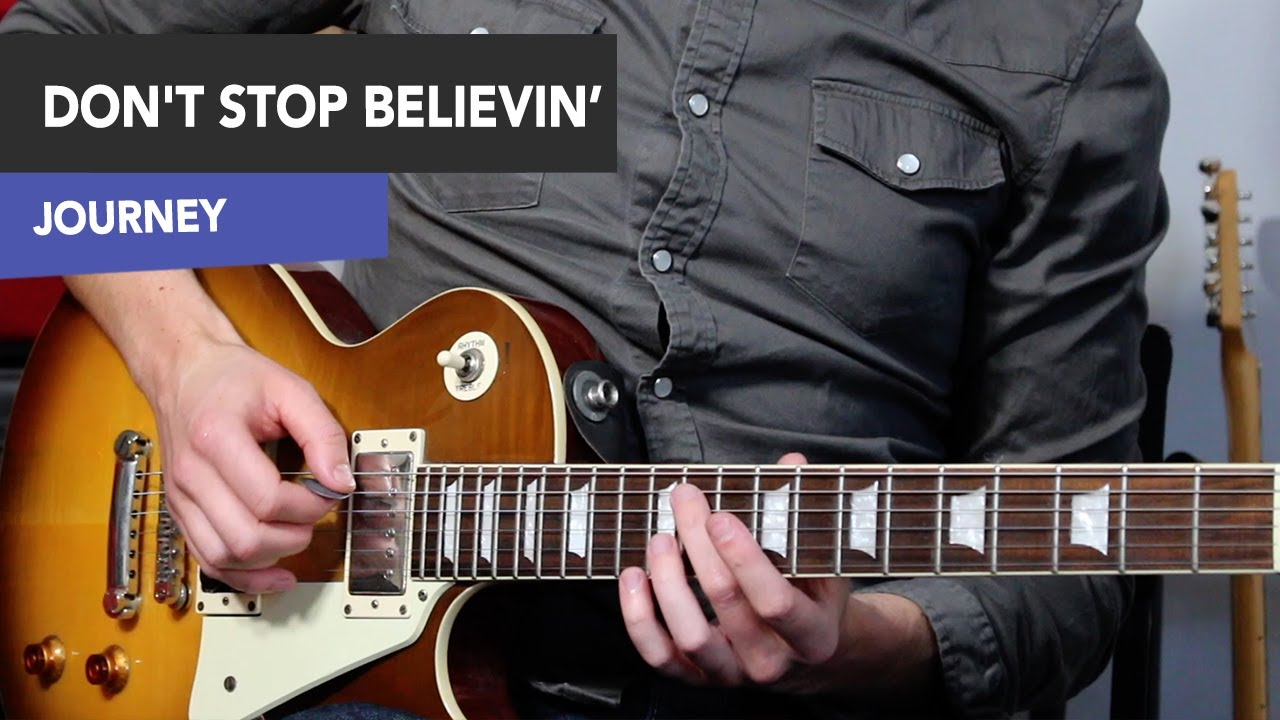 Dont Stop Believin Guitar Lesson Journey Riffs And Solos Youtube