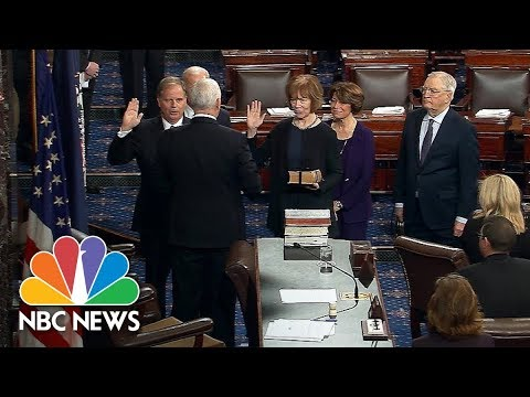 Doug Jones And Tina Smith Be Sworn-In As Senators By VP Mike Pence | NBC News