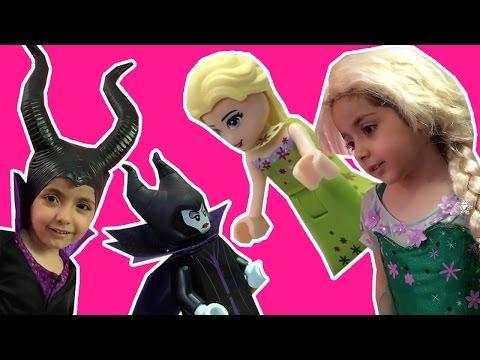 Disney Princesses In Real Life Frozen Elsa Vs Maleficent MAGIC LEGOLAND TRIP Chocolate Fountain Toys