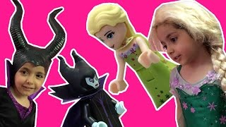 Elsa & Maleficent Are Shrunk Into Lego By Magic - Legoland Day Trip - Princesses In Real Life
