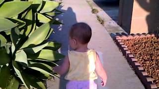 Early Walker Kierra and her strawberry hemangioma on her head. :)