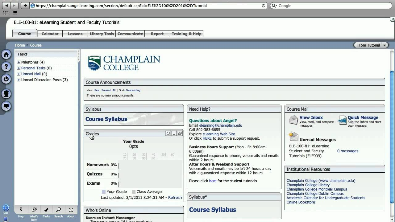 Online college course options