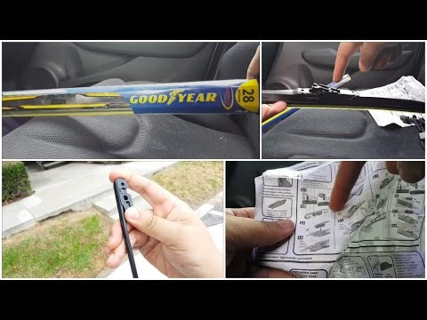 Costco Good Year Hybrid Wiper Blade Installation Honda Fit