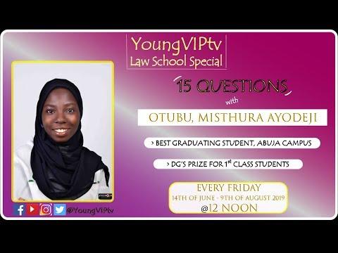 BEST GRADUATING STUDENT IN ABUJA CAMPUS | NIGERIAN LAW SCHOOL